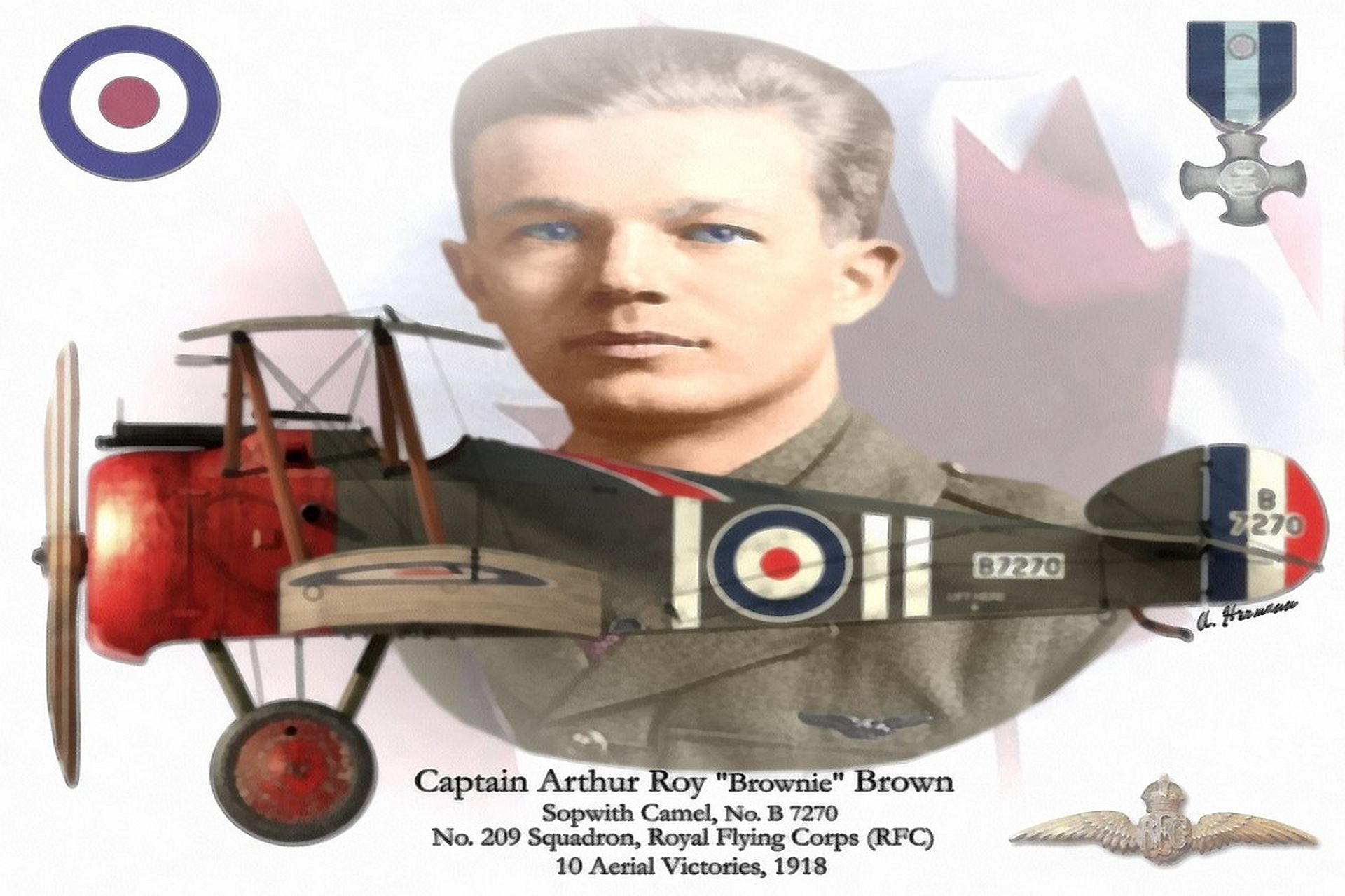 Captain Roy Brown Banner