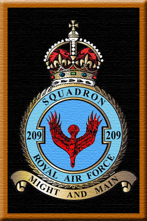 Squadron 209 Emblem - The Red Eagle Falling