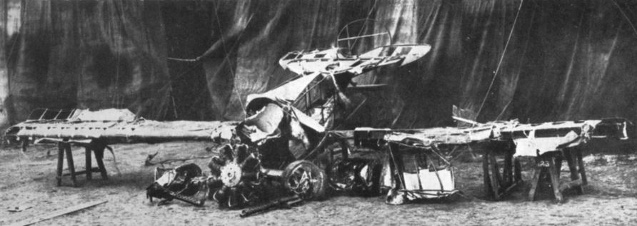 Red Baron plane wreckage